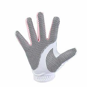 Pratique Gants de Pratique de Golf Respirants et antidérapants pour Femme, Gants de Golf en Tissu de Fibre de Verre, Rose 1 Paire (Couleur : Rose, Taille : 18)