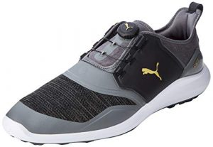 PUMA Ignite Nxt Disc', Chaussures de Golf Homme, Quiet Shade Team Gold Black, 45 EU