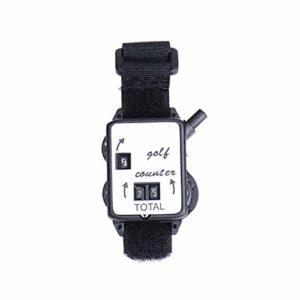 pushfocourag Portable Mini Bracelet Golf Course Compteur de Score Keeper Montre Putt Vue des Scores Lu Ya Appât Lot de Petites Escalade sur Glace Noir + Blanc