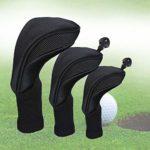 Qmcmc Golf Putter Head Couvre 3 Pcs Facile Utiliser Tige de Golf Club Head Cover Pièces Cap Outil No.1 3 5 Accessoires