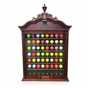 RLQ Golf Affichage Ball, Balle de Golf 56 Cas Mur Cabinet Porte-Rack, pour Golf Ball Collector