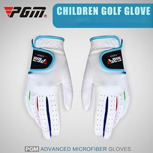 RONSHIN 1 Paire Enfants Unisexe Gants de Golf Respirant Gant Anti-d¨¦Rapant Gauche/Droite White 16