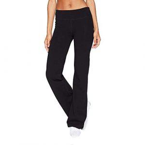 showsing-women clothes Femmes Jambe Large Pantalon de Sport Dames Casual Couleur Unie Slim Hanches Pantalon de Yoga Gym Fitness Exercice Skinny Baggy Lounge Pantalon Taille Unique Noir