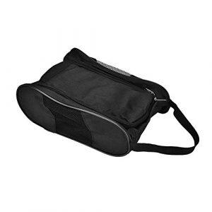 Solomi Sac à Chaussures de Golf – Chaussures de Golf Portable Sac Respirant Stockage (2 Couleurs) (Couleur : Black)