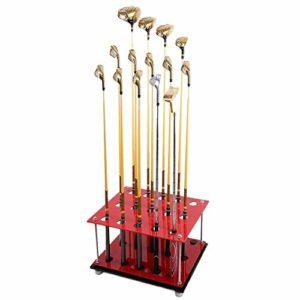 Support de bâti de Club de Golf 15 Trous Support de bâti de Rangement de Club de Golf Vert Stockage de bâti de Support en métal Parcours de Rangement Fournitures
