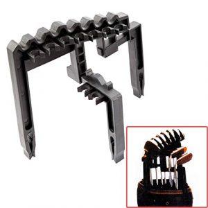 Support pour club de golf – Clip de putter de golf détachable – 9 tiges en ABS en fer free size Noir