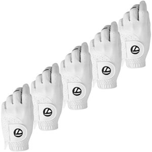 TaylorMade Stratus Tech LH Gant de Golf – Blanc – XL – Paquet de 5