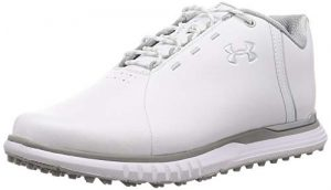 Under Armour Fade SL, Chaussures de Golf Femme, Blanc (White/Overcast Gray/Metallic Silver (100) 100), 40.5 EU
