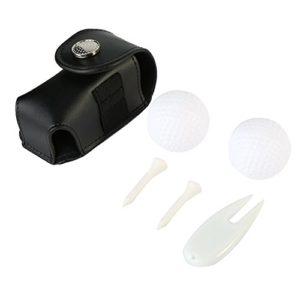 VGEBY Support de Balles de Golf, Agrafe de Poche Utilitaire de Balle de Golf avec l'Outil de Tache pour Pièces de Rechange pour Accessoires de Golf(Noir)
