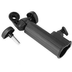 VGEBY Support de Parapluie de Golf, Support en Plastique de Chariot à Poussettes de Golf, Porte-Parapluie Réglable pour Chariot de Golf