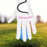 VGEBY1 Gants de Golf pour Femme, Gants de Golf antidérapants en Cuir PU Toutes Saisons, 20