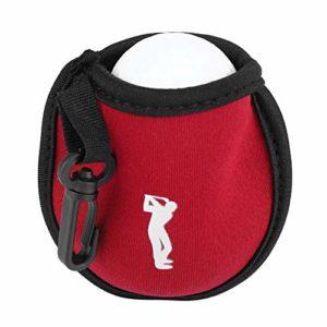VGEBY1 Mini Sac de Balle de Golf Portable avec Clip pour Outil d'entraînement de Golf, Rouge vin