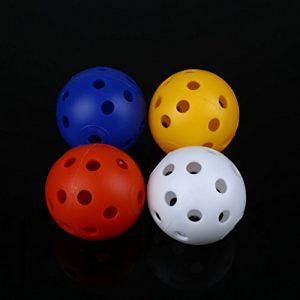 VOSAREA 12pcs balles de Golf en Plastique Pratiques pour Jouer à la Balle Creuses, balles de Sport