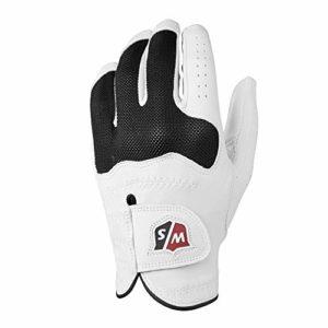 Wilson Staff Gant de golf, Conform Glove, Taille M, Pour Femme, Main Gauche, Blanc, Tissu éponge/Cuir Cabretta, WGJA00318M