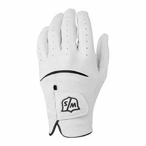 Wilson Staff Gant de golf, Tour Glove, Taille M, Pour Homme, Main Gauche, Blanc, Cuir Cabretta, WGJA00648M