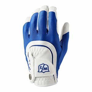 Wilson W/S FIT All MLH BLUWH Gants Golf pour Hommes, Blue/White, One Size