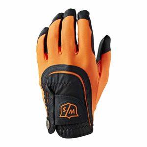 Wilson W/S FIT All MLH ORBL Gants Golf pour Hommes, Orange/Black, One Size