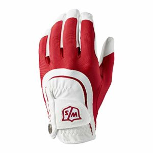 Wilson W/S FIT All MLH RDWH Gants Golf pour Hommes, Red/White, One Size