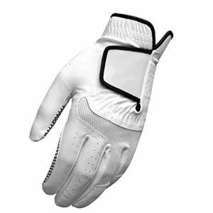WJQ Gants de Golf Main Gauche extérieur Fournitures Doux Confortable Respirant Anti-dérapant activité Antifriction adapté aux golfeurs Pratique Toute la journée Choix