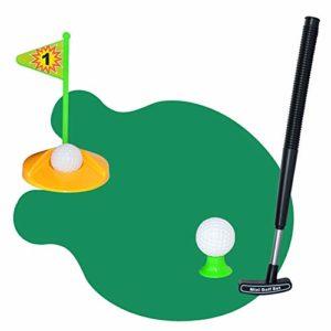 Yhjklm Jeu de Balle de Golf Golf, Toilettes, Set de Putter pour Le Pot, Salle de Jeux, Jeu, Mini-Golf, Golf, nouveauté, Jouer au Golf sur Les Toilettes Jouets éducatifs