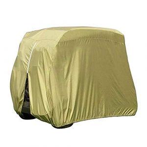 YINETTECH Housse de Protection pour Voiture de Golf 4 passagers imperméable à l'eau Sunproof Club 112 Pouces Hauteur 210D Tissu Polyester Durable Taupe