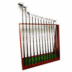 YPYJ Golf Club en Bois Présentoir 13 Trous Support Support De Rangement – Intérieur Extérieur Golf Club Organisateur Shelf,Redwine