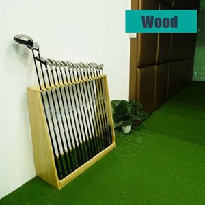 YPYJ Golf Club en Bois Présentoir 18 Trous Support Support De Rangement – Intérieur Extérieur Golf Club Organisateur Shelf,Wood