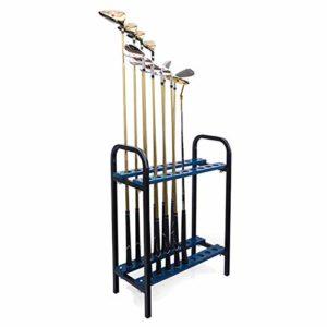 YPYJ Golf Club Rack Présentoir 18 Trous Golf Club Storage Rack Holder Green Metal Rack Storage Driving Range Supplies for Christmas