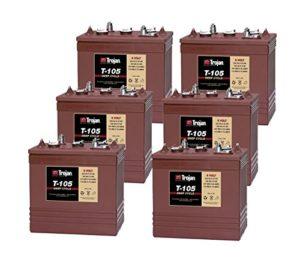 6x Trojan T105 – Batteries à décharge profonde (semi traction)