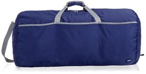 AmazonBasics Grand sac de sport/week-end en tissu souple, 98 l, Bleu marine