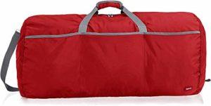 AmazonBasics Grand sac de sport/week-end en tissu souple, 98 l, Rouge