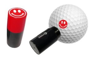 ASBRI GOLF BALL STAMPER. SMILEY RED by Asbri