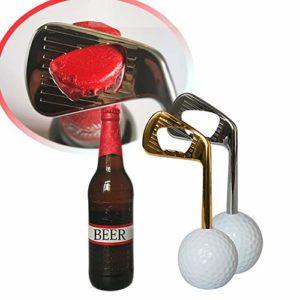 Baywell nouveauté ouvre-Bouteille de bière en Acier Inoxydable Balle de Golf en Forme de Capuchon en Alliage de Zinc Outil Ouvert Cuisine Bureau Bureau décors