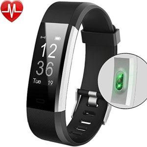 Bracelet Sport Activité Montre Connectée Avec GPS, NickSea Etanche IP67 Fitness Tracker d'Activité Bluetooth avec Cardiofréquencemètres, Podomètre, Calorie, SMS, Smart Warch pour IOS et Android – Noir