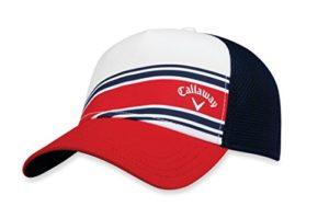 Callaway Golf 2018 à Rayures en Maille réglable Chapeau, Headwear, White/Red/Navy