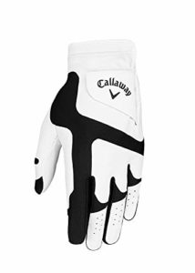 Callaway Opti Fit Gants de Golf pour Homme Blanc/Noir Taille Unique