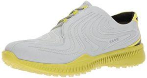 Ecco Drive, Chaussures de Golf Homme, Gris (Concrete/Kiwi), 42 EU