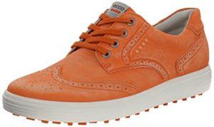 Ecco Golf Casual Hybrid Femmes Orange Cuir Chaussure de Golf EU 40