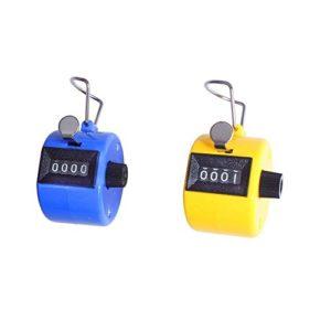 Efbock Compteur manuel, chiffres Compteur à main Clicker avec bague de doigt, couleurs assorties, Lot de 2