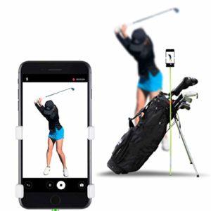 Enregistreur de swing de golf par Selfiegolf TM, support de fixation pour téléphone portable à clip, rouge/noir