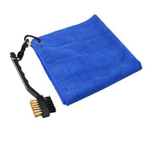 Ensemble de brosse de golf et serviette de golf, Serviettes compactes légères de séchage rapide Microfiber de NATUCE (16 «x 16») – Bleu royal