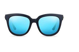 Flashs de Star féminines du paragraphe lunettes de soleil lunettes de soleil polarisées visage rond brillant verres