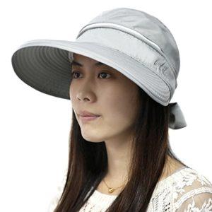 Fletion Femme Mode Bohemia Bowknot Été Double Usage Sun Visière Chapeau Papillon Nœud Wide Brim Floppy Fold Beach Hat Cap