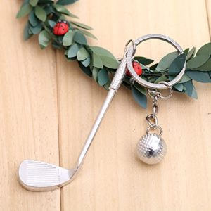 Forfar 1 pc Cadeau créatif keychain 3D Golf Porte clés porte clés en métal