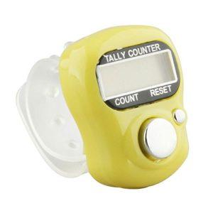 Forfar Ligne contre Annulaire Électronique Point Marker Golf Digit LCD Tally Counter, Couleur aléatoire