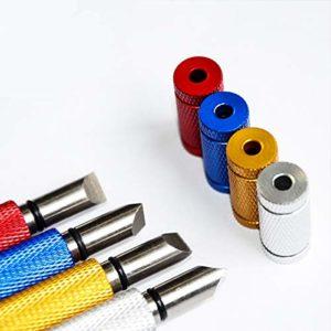 Golf Club Groove Sharpener – Outil de re-rainurage et de nettoyage pour coins et fers – Contrôle de la rotation et de la balle amélioré – avec marqueurs de billes assortis gratuits ( Color : Gold )