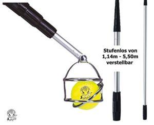 Killagolf Canne de luxe à balles de golf en aluminium réglable en continu de 114cm–550cm