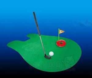 Kimberleystore Creative Putter Tapis de putting Golf Mini Toilette Jeu de golf