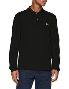 Lacoste – L1312-00 – Polo – Uni – Col polo – Manches Longues – Homme – Noir (Noir) – 8/XXXL
