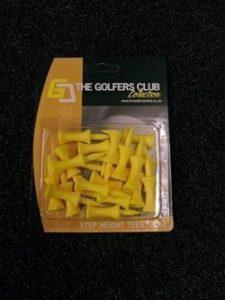 Le Golfers Club Gradué Château T-shirt De Golf Jaune – Étape 24mm (20 Tees)